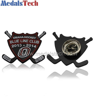 Cheap black plating iron unique custom trading pins